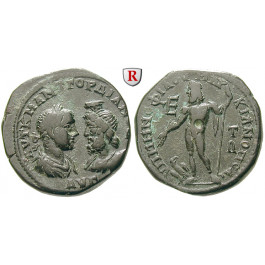Römische Provinzialprägungen, Thrakien-Donaugebiet, Markianopolis, Gordianus III., Bronze 238-244, vz/ss
