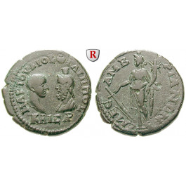 Römische Provinzialprägungen, Thrakien, Mesembria, Philippus II., Caesar, Bronze 244-247, ss+