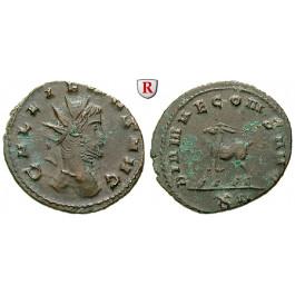 Römische Kaiserzeit, Gallienus, Antoninian 260-268, ss-vz