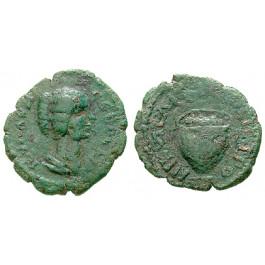 Römische Provinzialprägungen, Thrakien-Donaugebiet, Nikopolis am Istros, Julia Domna, Frau des Septimius Severus, Bronze 193-217, s-ss