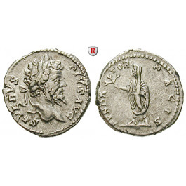 Römische Kaiserzeit, Septimius Severus, Denar 202-210, ss+