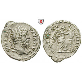 Römische Kaiserzeit, Septimius Severus, Denar 207, ss