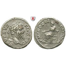 Römische Kaiserzeit, Septimius Severus, Denar 201-210, vz