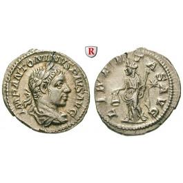 Römische Kaiserzeit, Elagabal, Denar 220-221, vz
