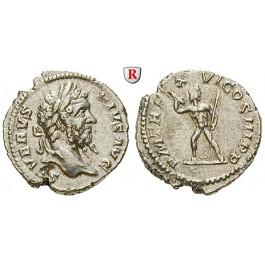 Römische Kaiserzeit, Septimius Severus, Denar 208, f.vz