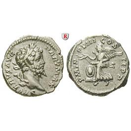 Römische Kaiserzeit, Septimius Severus, Denar 200, ss-vz