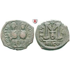Byzanz, Justin II., Follis Jahr 7 = 571-572, ss
