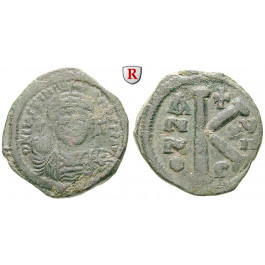 Byzanz, Justinian I., Halbfollis (20 Nummi) Jahr 17 = 543-544, f.ss