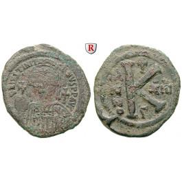 Byzanz, Justinian I., Halbfollis (20 Nummi) Jahr 13 = 539-540, f.ss