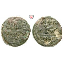 Byzanz, Mauricius Tiberius, Halbfollis (20 Nummi) 584-585, s/ss
