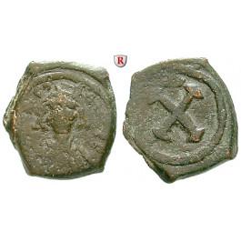 Byzanz, Tiberius II. Constantinus, Decanummium (10 Nummi) 578-582, s/ss