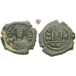 Byzanz, Mauricius Tiberius, Follis Jahr 10 =591-592, ss