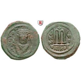 Byzanz, Tiberius II. Constantinus, Follis Jahr 8 =581-582, f.ss/ss