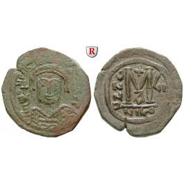 Byzanz, Mauricius Tiberius, Follis Jahr 7 = 588-589, ss