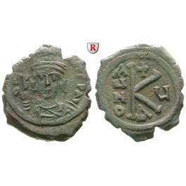 Byzanz, Mauricius Tiberius, Halbfollis (20 Nummi) 586-587, Jahr 5, f.ss