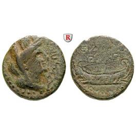 Römische Provinzialprägungen, Phönizien, Sidon, Autonome Prägungen, Bronze 44/5-117/8, f.ss