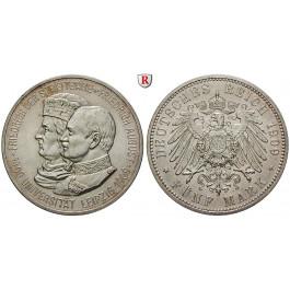 Deutsches Kaiserreich, Sachsen, Friedrich August III., 5 Mark 1909, Universität Leipzig, vz-st, J. 139