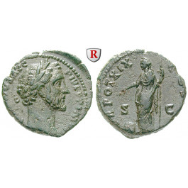 Römische Kaiserzeit, Antoninus Pius, As 140-141, ss+