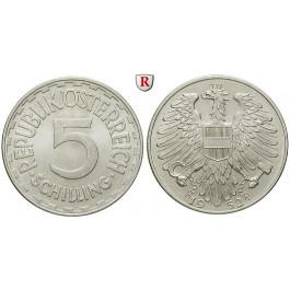 Österreich, 2. Republik, 5 Schilling 1952, f.st