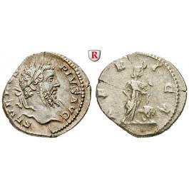 Römische Kaiserzeit, Septimius Severus, Denar 207, f.vz/ss