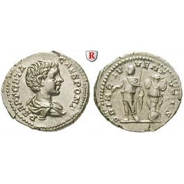 Römische Kaiserzeit, Geta, Caesar, Denar 200-202, vz+