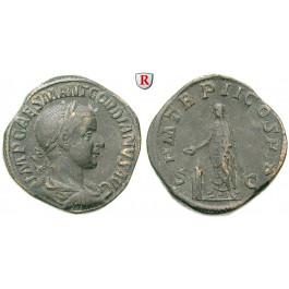 Römische Kaiserzeit, Gordianus III., Sesterz 239, ss+