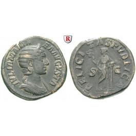 Römische Kaiserzeit, Julia Mamaea, Mutter des Severus Alexander, Sesterz 228, ss