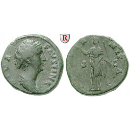 Römische Kaiserzeit, Faustina I., Frau des Antoninus Pius, As nach 141, f.ss