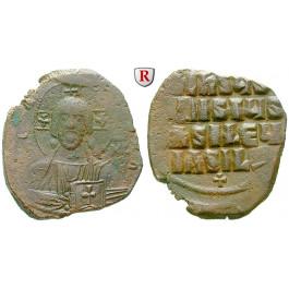 Byzanz, Basilius II. und Constantinus VIII., Follis 976-1025, ss