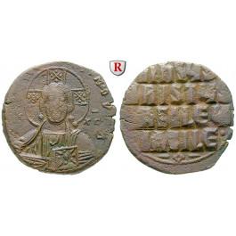 Byzanz, Basilius II. und Constantinus VIII., Follis 976-1025, ss+