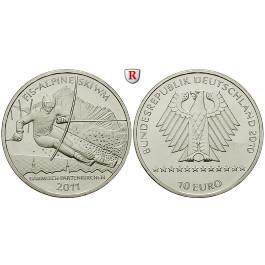 Bundesrepublik Deutschland, 10 Euro 2010, Ski WM 2011, nach unserer Wahl, A-J, bfr.