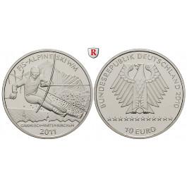 Bundesrepublik Deutschland, 10 Euro 2010, Ski WM 2011, nach unserer Wahl, A-J, PP