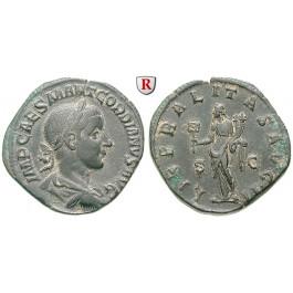 Römische Kaiserzeit, Gordianus III., Sesterz 240, f.vz