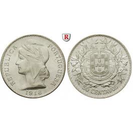 Portugal, Republik, 50 Centavos 1916, st