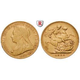 Australien, Victoria, Sovereign 1893-1901, 7,32 g fein, ss