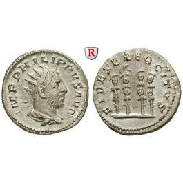 Römische Kaiserzeit, Philippus I., Antoninian 247-249, vz