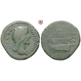Römische Kaiserzeit, Antoninus Pius, Sesterz 179-180, s