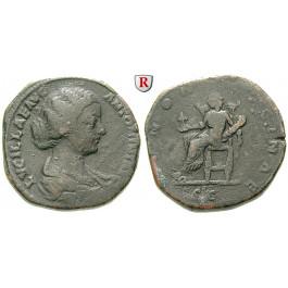 Römische Kaiserzeit, Lucilla, Frau des Lucius Verus, Sesterz nach 164, f.ss
