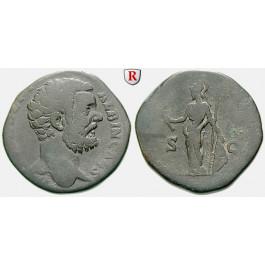 Römische Kaiserzeit, Clodius Albinus, Caesar, Sesterz 193, s+