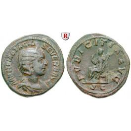 Römische Kaiserzeit, Otacilia Severa, Frau Philippus I., Sesterz 244-249, ss