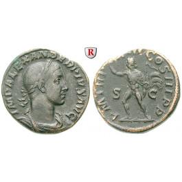 Römische Kaiserzeit, Severus Alexander, Sesterz 234, ss