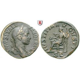 Römische Kaiserzeit, Severus Alexander, Sesterz 222-235, ss-vz