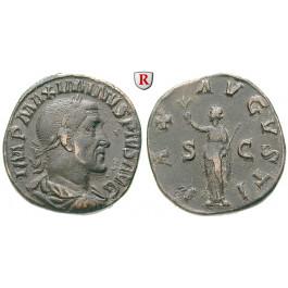 Römische Kaiserzeit, Maximinus I., Sesterz 235-236, ss+