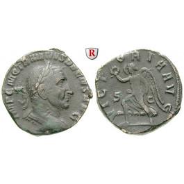 Römische Kaiserzeit, Traianus Decius, Sesterz 249-251, ss