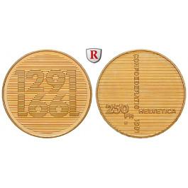 Schweiz, Eidgenossenschaft, 250 Franken 1991, 7,2 g fein, st