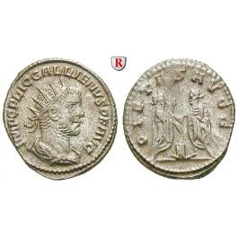 Römische Kaiserzeit, Gallienus, Antoninian 255-256, vz