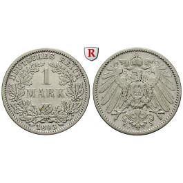 Deutsches Kaiserreich, 1 Mark 1893, F, ss, J. 17