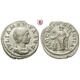 Römische Kaiserzeit, Julia Maesa, Großmutter des Elagabal, Denar um 225, vz