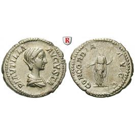 Römische Kaiserzeit, Plautilla, Frau des Caracalla, Denar 202-205, vz