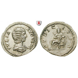 Römische Kaiserzeit, Julia Domna, Frau des Septimius Severus, Denar 211, vz+